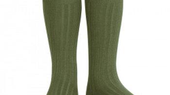 Condor Alga Knee High Cotton Rib Socks