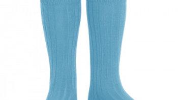 Condor Sapphire Knee High Cotton Rib Socks