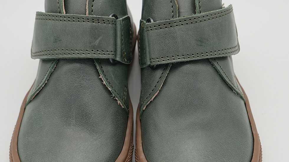Petasil Forest Green  Denver Leather Boots