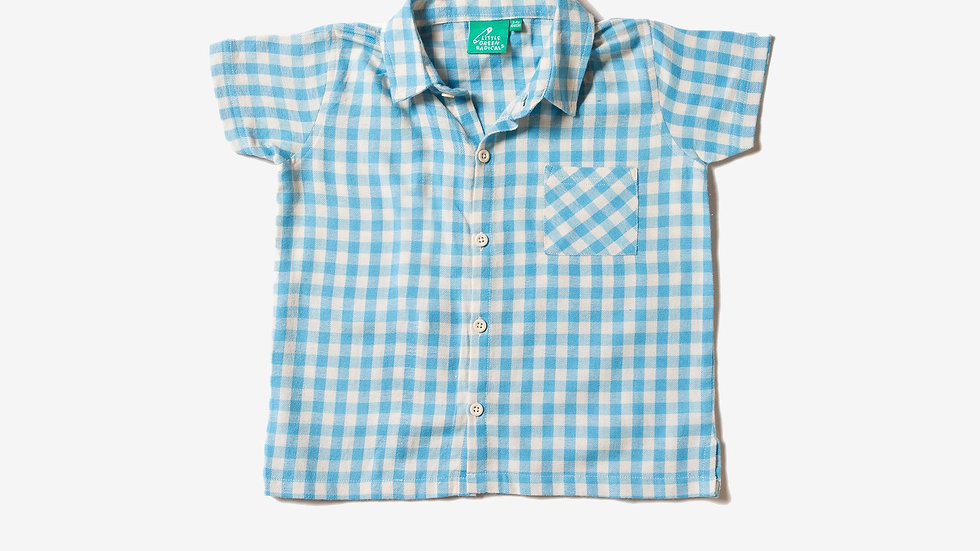 Little Green Radicals Blue Check Shirt