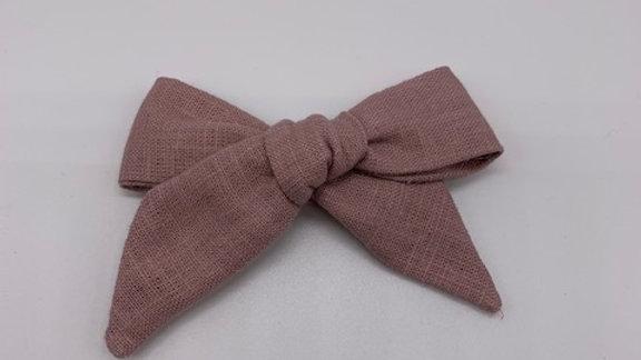 Runaround Retro Rose Linen Over Size Hair Bow