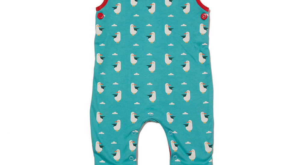 Little Green Radicals Seagull Dungarees