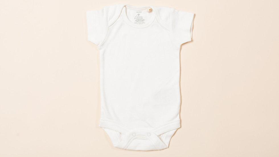Little Green Radicals Natural Cotton Baby Body Short Sleeve Vest