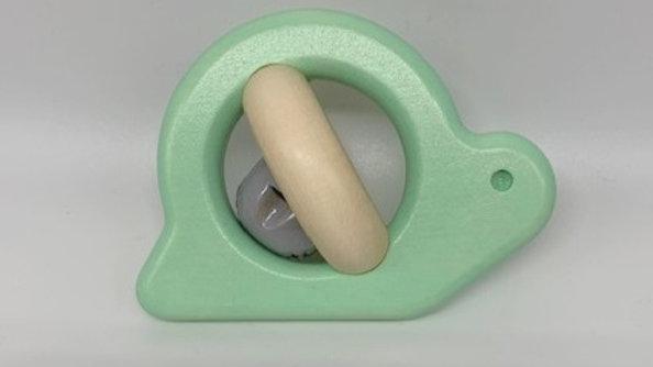 Wooden Mint Snail Bell Rattle