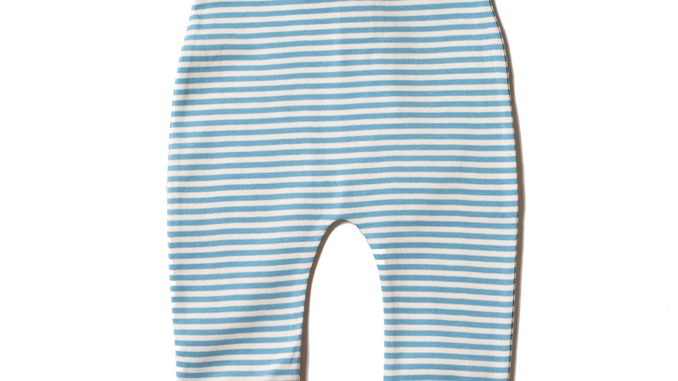 Little Green Radicals Blue and Cream Stripe Wiggle Bottoms