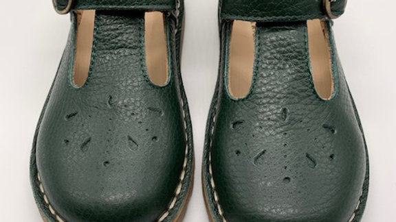 Petasil Olive Andrea T Bar Shoe