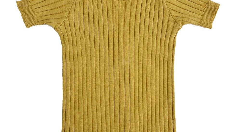 Mabli Caswell Dandelion Skinny Rib Short Sleeve