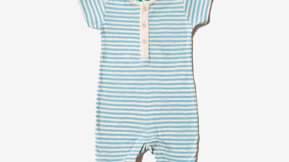 Little Green Radicals Cornish Blue and Cream Stripe Shortie