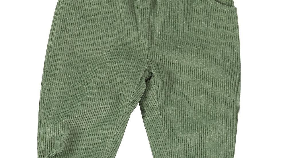 Pigeon Organics Lined Green Corduroy Trousers