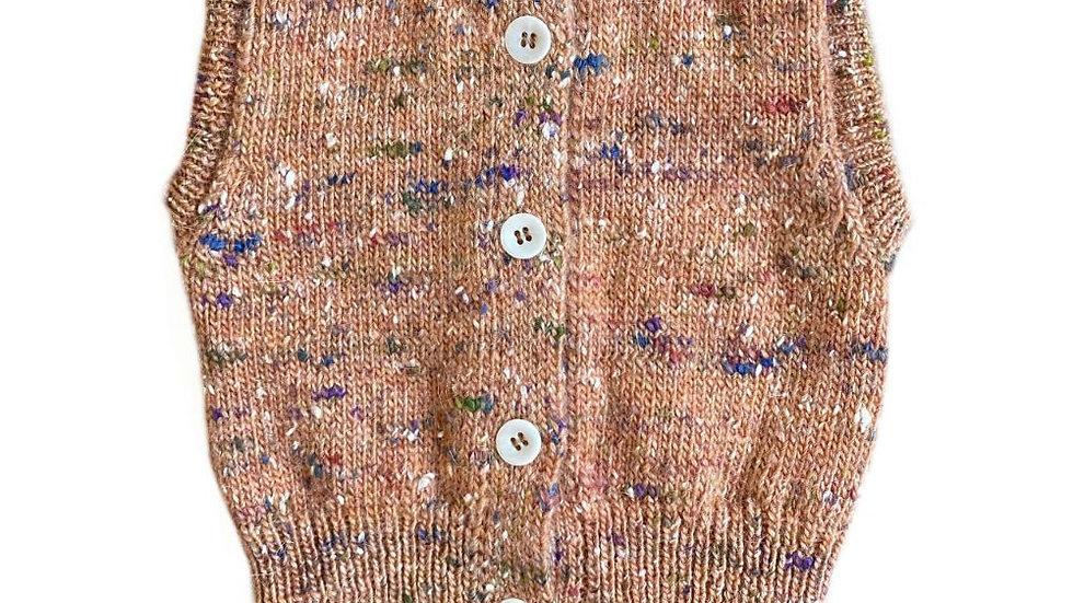 Mabli Tylwyth Wool Knitted Vest Opal