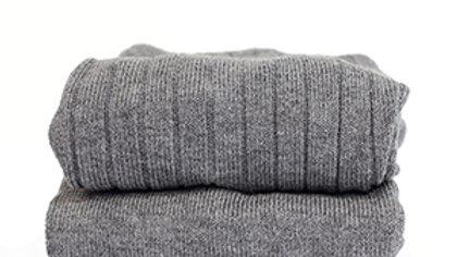 Condor Grey Cotton Rib Tights