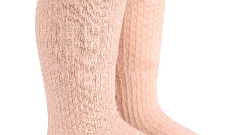 Condor Shell Pink Wool Blend Knee High Socks