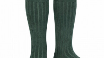 Condor Pine Knee High Cotton Rib Socks
