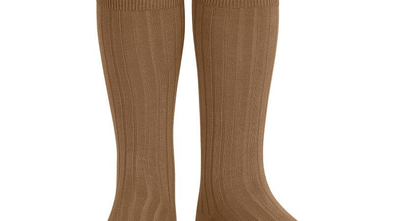 Condor Toffee Knee High Cotton Rib Socks