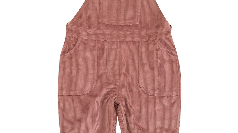 Pigeon Organics Lined Rose Cord Dungarees