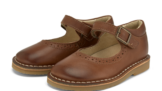 Young Soles  Burnished Tan Martha  Mary-Jane  Shoe