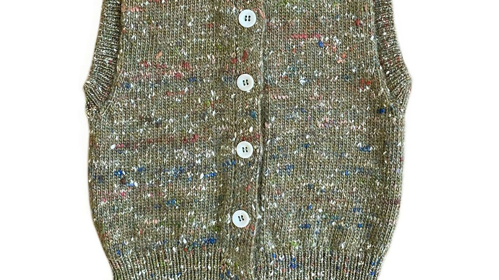 Mabli Tylwyth Wool Knitted Vest Sage