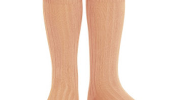 Condor Peach Knee High Cotton Rib Socks