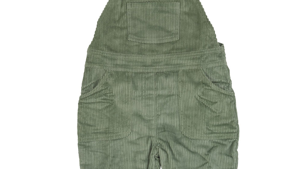 Pigeon Organics Lined Green Cord Dungarees