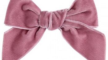 Condor Rose Pink Large Velvet Hairbow Clip