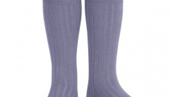 Condor Lavender Knee High Cotton Rib Socks