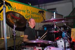 Anthony Rockin the Jamaican beads!!!