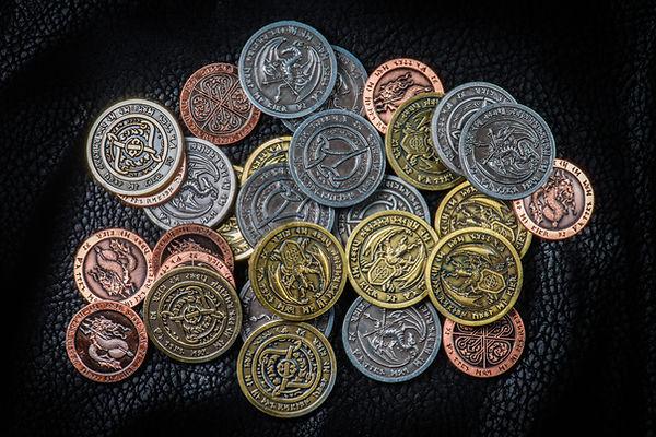 moedas coloridas