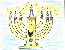 cartoon, milton menorah 1