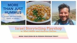 Israel Storytelling Playshop Flyer
