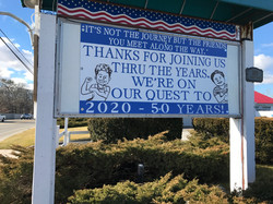 Barn 50 years sign