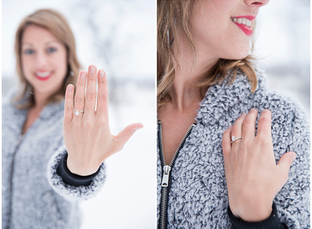 Snowy Wisconsin Engagement