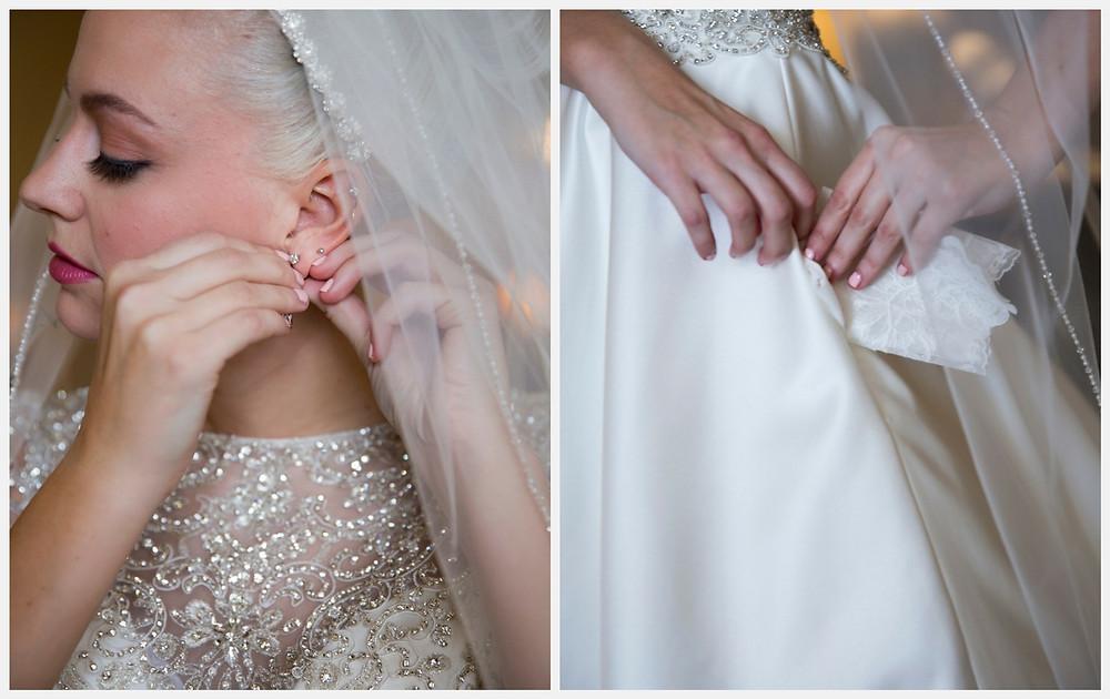 Wisconsin wedding. Wisconsin bride. Wedding dress. Jewelry. Wisconsin wedding photographer.