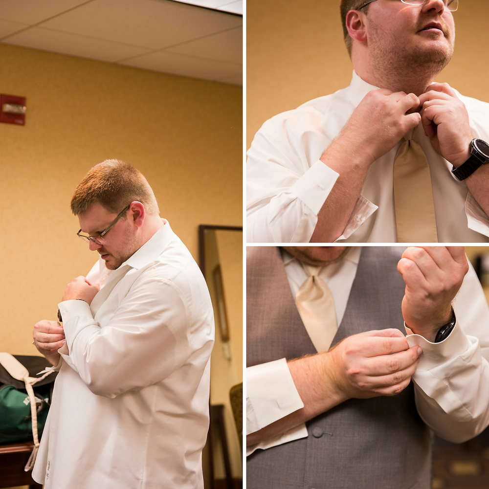 groom, groom details, wisconsin wedding, winter wedding, getting ready, cufflinks, tuxedo