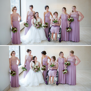 bridesmaids, bride, wedding dress, bridesmaid dress, bouquets