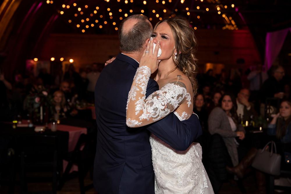 wedding, wisconsin wedding, colorado wedding, barn wedding, wedding dress, wedding day, bride, father, daughter