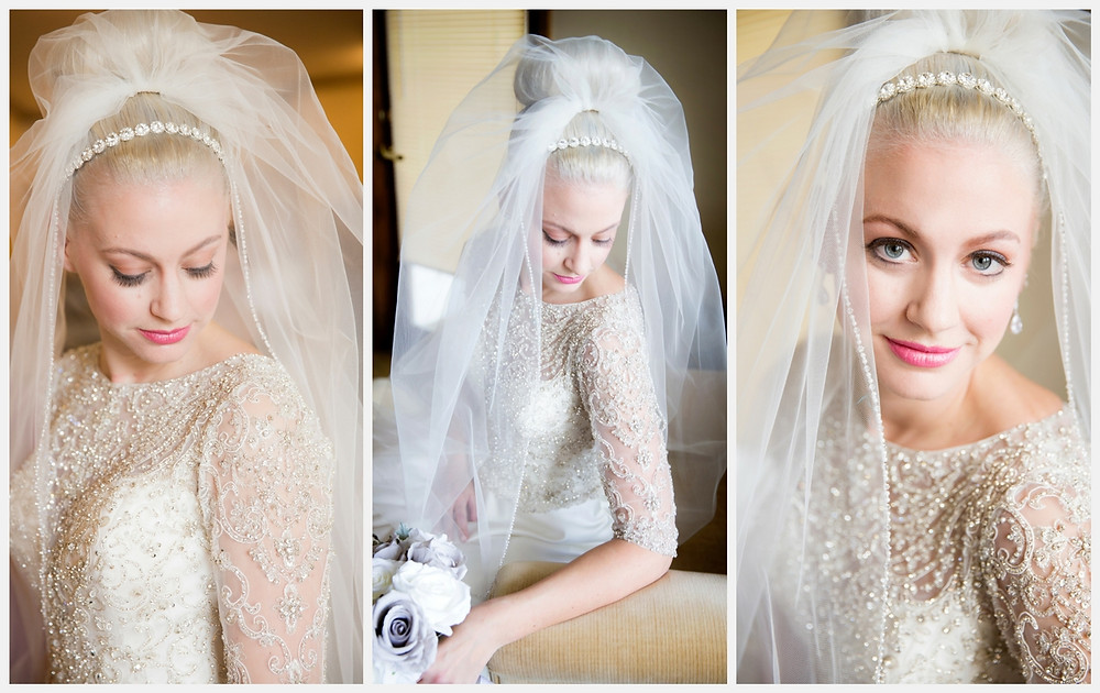 Bridal portraits and details. Beautiful bride. Cathedral veil. Wisconsin wedding. Wisconsin wedding photographer.