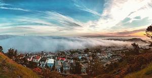 san francisco, mountain, fog, west coast, wedding photography, travel photography, solo travel