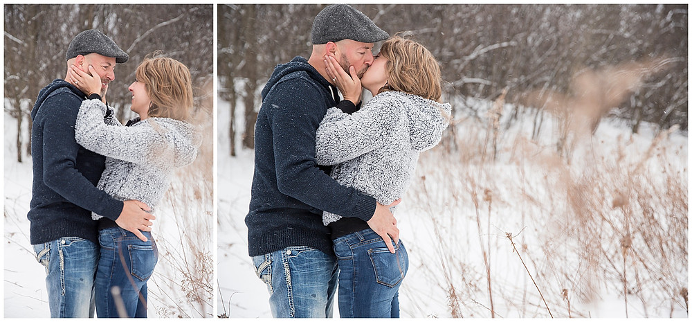 Wild Elegance: Snowy Winter Engagement Session in Wisconsin, Wedding in Colorado