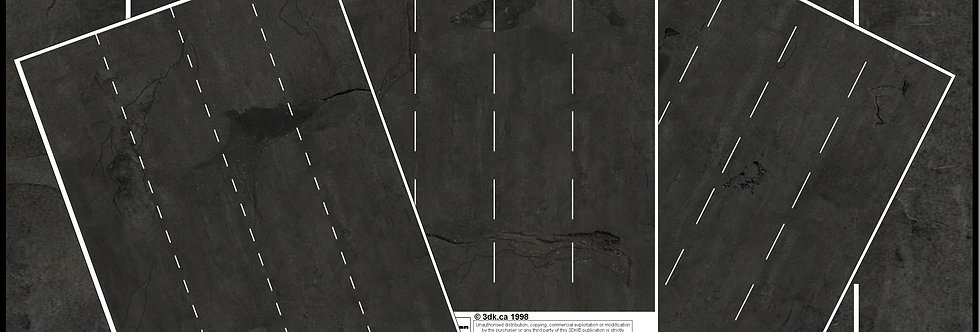 TR019 PACK OF 3 BLACK ROAD MARKING SHEETS
