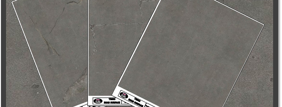 TR005 PACK OF 3 GREY ROAD SHEETS