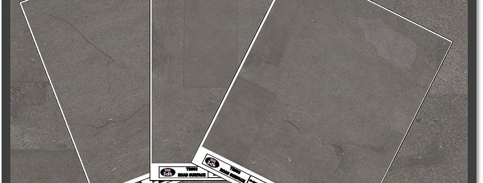 TR012 PACK OF 3 GREY ROAD SHEETS