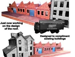 3dk Progress Report on our OO Gauge Dairy & Creamery model railway card kit