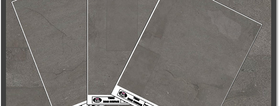 TR004 PACK OF 3 GREY ROAD SHEETS