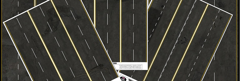 TR020 PACK OF 3 BLACK ROAD MARKING SHEETS