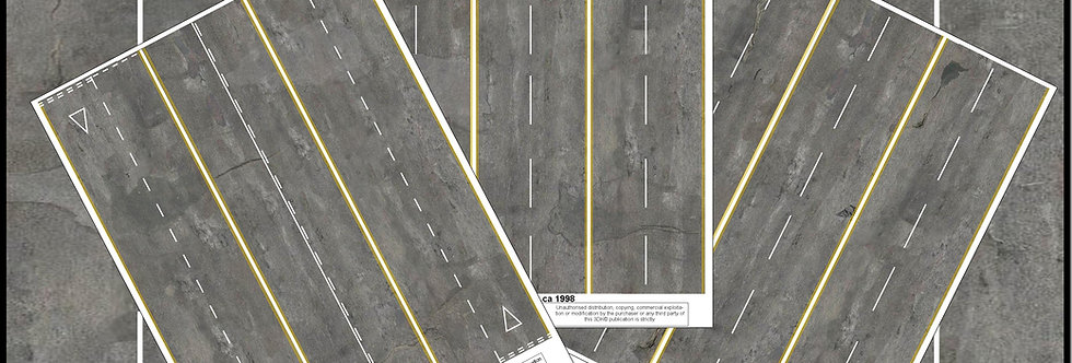 TR016 PACK OF 3 GREY ROAD SHEETS