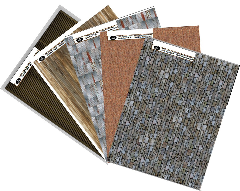 O Gauge Textured SheetsA range of Textured Detailing Sheets designed to help the scratch modeller. ​ All sheets are A4 sized & come as a PDF. ​ Created from actual photo based images. ​ One sheet can be printed out many times.
