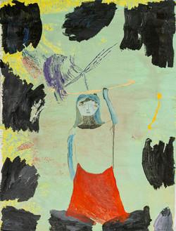 Hunter, 2020, Mixed media on canvas.