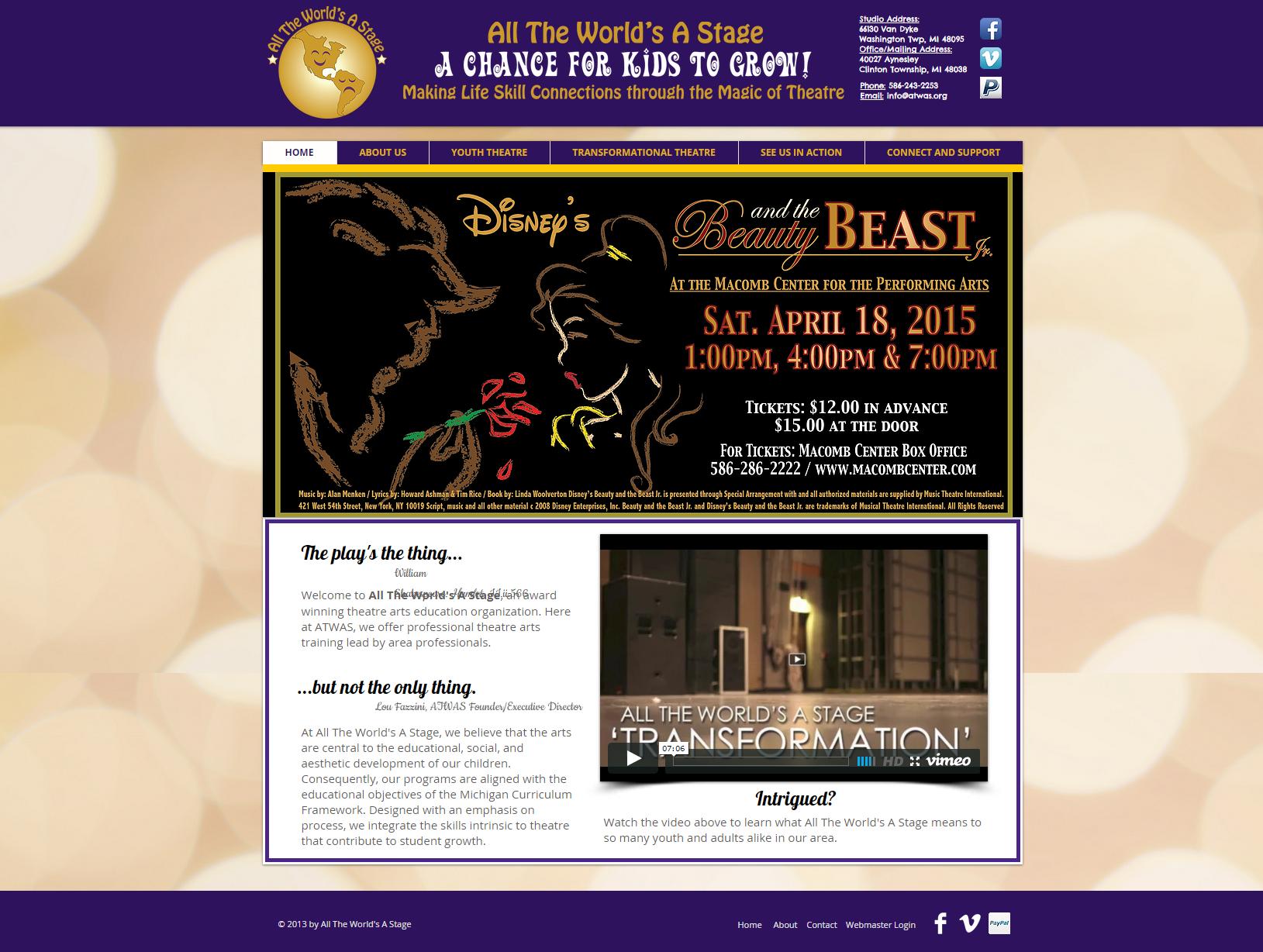 All The World's A Stage| Children's Theatre| Macomb, Michigan