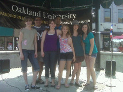 Singing at Mount Clemens Art Fair
