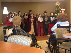 Caroling at Troy Beaumont Hospital